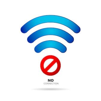 Nessun segno di connessione internet