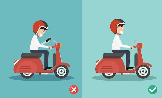 Nessun sms, nessun modo di parlare, modi giusti e sbagliati per evitare incidenti stradali
