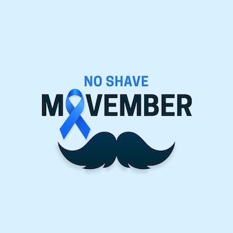 Nessun testo di tipografia movember da barba per il mese di sensibilizzazione sul cancro alla prostata