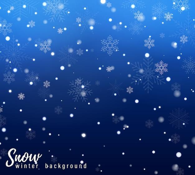 Neve che cade di natale. fiocchi di neve, forti nevicate.