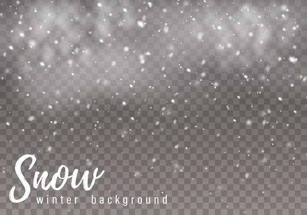 Neve che cade. forti nevicate, sfondo.