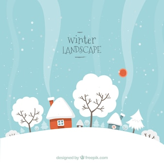 Nevoso paesaggio invernale