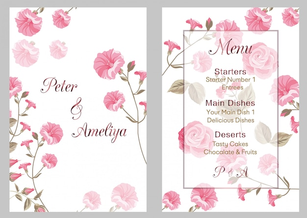 New modern wedding invitation card