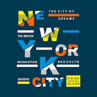 New york city tipografiche
