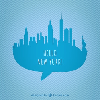 New york skyline di grafica vettoriale