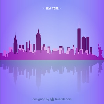 New york skyline di illustrazione