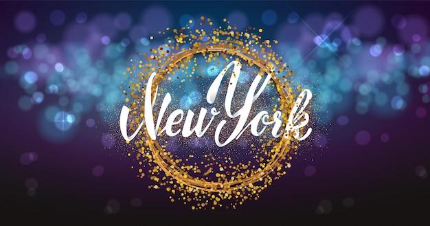 New york sullo sfondo bokhe luce.