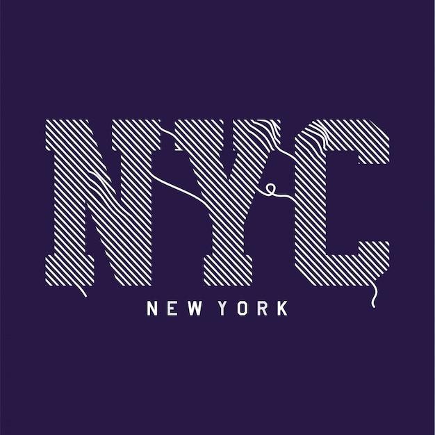 New york - t-shirt grafica