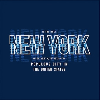 New york - tipografia