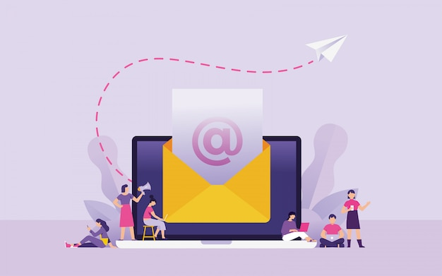 Newsletter e marketing e-mail concetto illustrazione vettoriale