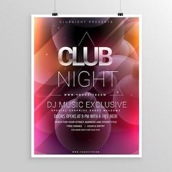 Night club party template volantino con data e ora dettagli
