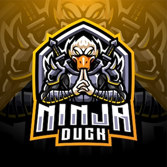 Ninja duck esport mascotte logo design