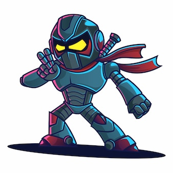 Ninja robot cartoon