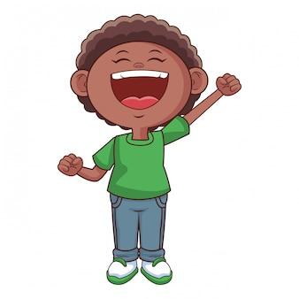 Nipote bambino felice