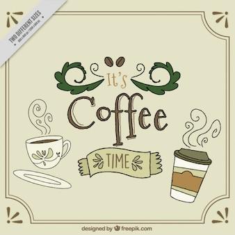 Nizza di fondo con testo di tempo caffè