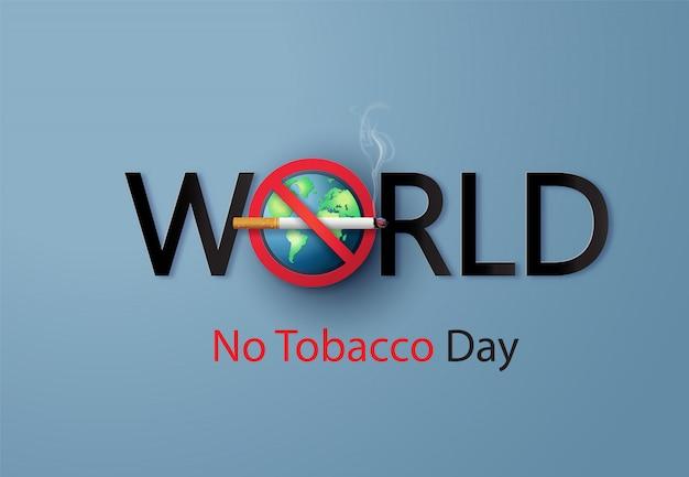 No smoking e world no tobacco day,