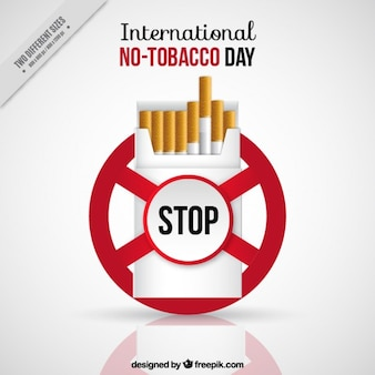No-tabacco day background disegno