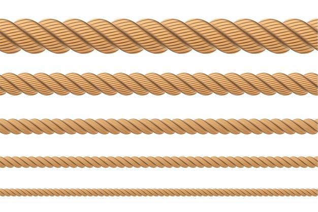 Nodi di corda ritorta nautica, anelli.