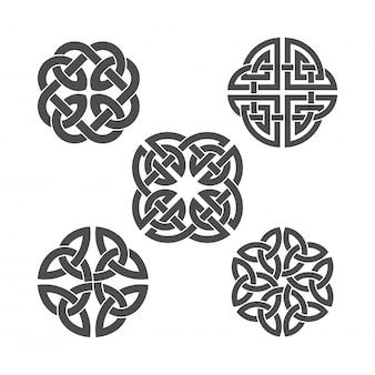 Nodo celtico ornamento etnico