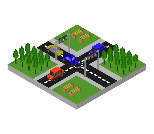 Nodo stradale isometrico