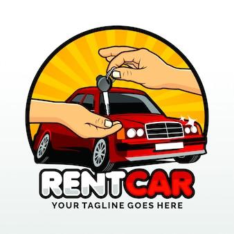 Noleggio auto logo template design vettoriale