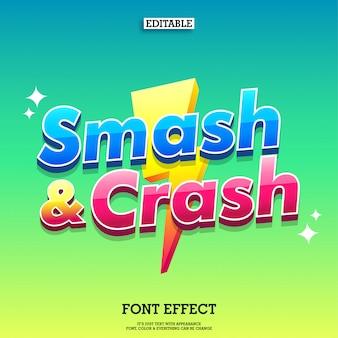 Nome del titolo del gioco logo moderno con tuono