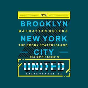 Nome della città grafica degli stati uniti di new york