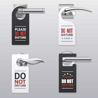 Non disturbare le etichette dei segni
