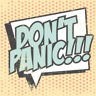 Non farti prendere dal panico