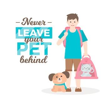 Non lasciarti mai alle spalle il tuo animale domestico