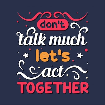 Non parliamo molto, facciamo insieme la tipografia