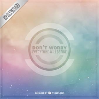 Non preoccupatevi di fondo