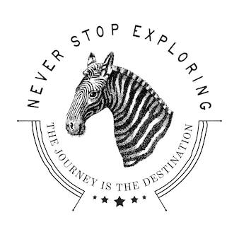 Non smettere mai di esplorare il logo design vettoriale