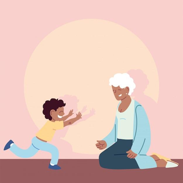 Nonna con nipote, felice festa dei nonni