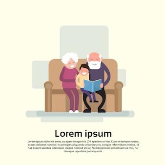 Nonno e nonna si siedono