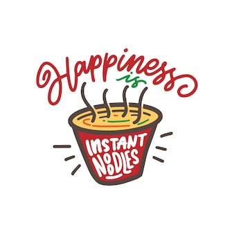 Noodles istantanei di felicità