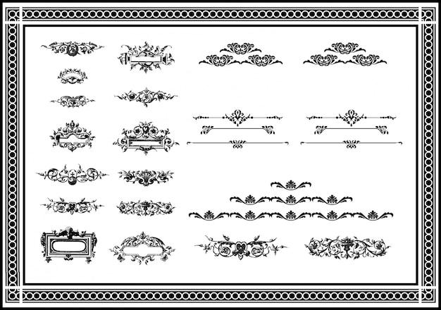Norme di pagina diverse per un elegante design di colore nero