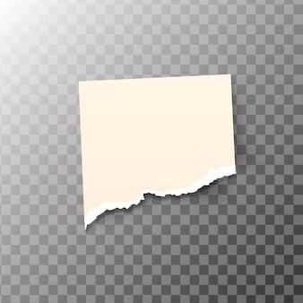 Nota appiccicosa strappata isolata su sfondo trasparente. modello per i tuoi progetti.