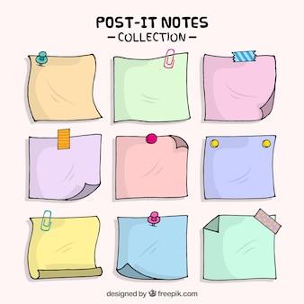 Note adesive disegnati a mano