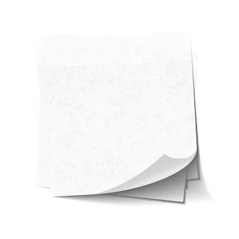 Note appiccicose bianche in mucchio isolato