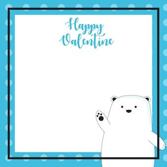 Note carine con stile disegnato a mano di cartone animato carino orso
