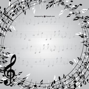 Note musicali vettore telaio