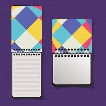 Notebook con copertina geometrica