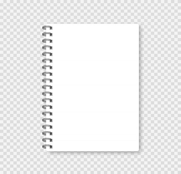 Notebook realistico mock up per la tua immagine. illustrazione vettoriale