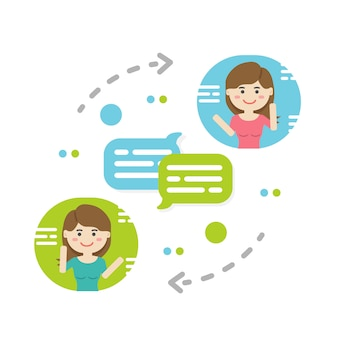 Notifica di nuovi messaggi di chat, social network, notizie, fumetti