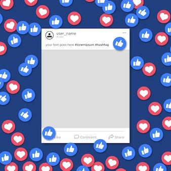 Notifica modello frame multimediale sociale