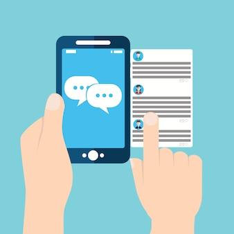 Notifiche dei messaggi di chat per cellulare