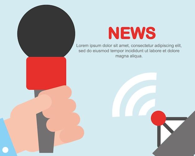 Notizie comunicazione avvisi microfono segnale satellitare