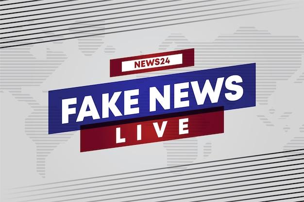 Notizie false streaming live