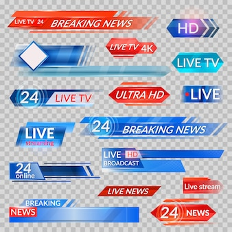 Notizie tv e set di video in streaming
